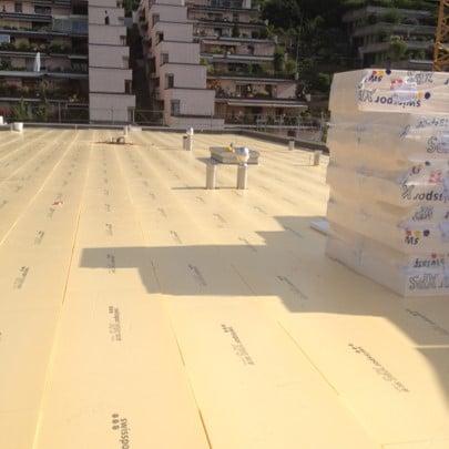 Neubau eines Flachdachs der Arnet Flachdach GmbH